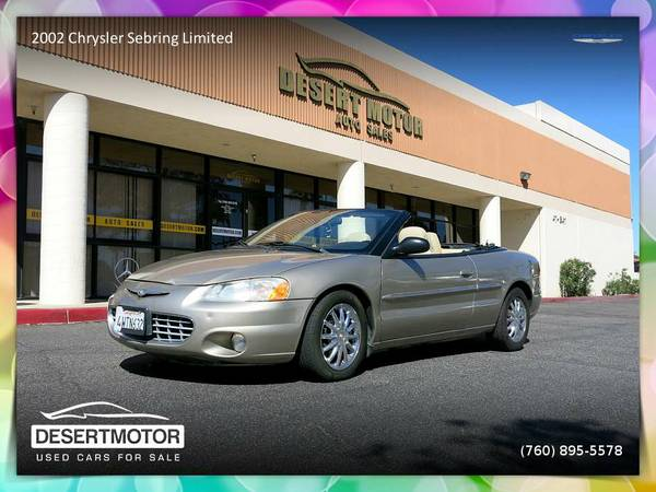 ✨ 2002 Chrysler Sebring Limited Convertible is surprisingly...