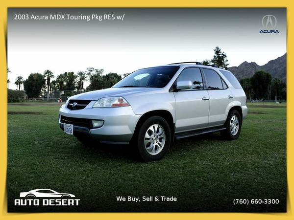 2003 Acura MDX Touring Pkg RES w/Navigation System SUV which runs...