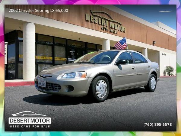 ✨Drive this 2002 Chrysler Sebring LX 65,000 miles Sedan home...