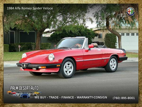 1984 Alfa Romeo Spider Veloce Veloce Convertible which runs EXCELLENT!