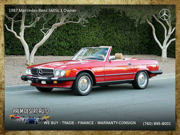 1987 Mercedes-Benz 560SL 1 Owner 51k Miles Documented+carfax...