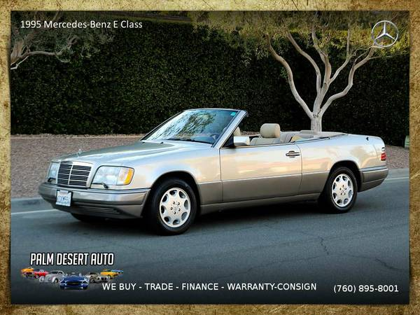 1995 Mercedes-Benz E Class Cabriolet Convertible - PRICE ROLLBACK
