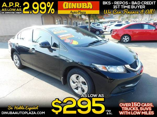 2013 HONDA CIVIC LX - $295.00 Down o.a.c.*