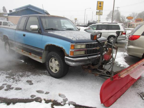 1993 CHEVROLET K1500 PLOW TRUCK sold