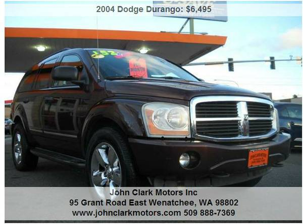 2004 DODGE DURANGO LIMITED 4X4...LEATHER...SUNROOF...3RD SEAT...DVD