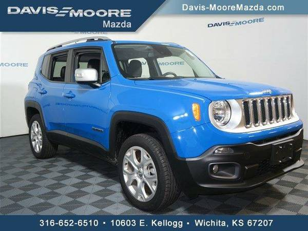 2015 *Jeep Renegade* Limited 4WD - Jeep Sierra Blue