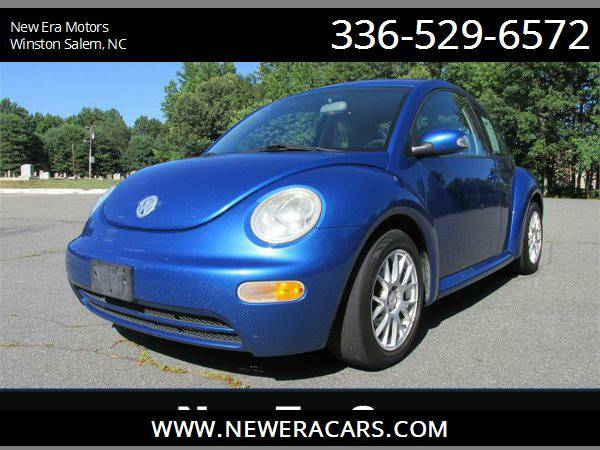 2005 VOLKSWAGEN NEW BEETLE GL 5 speed! Low Miles!, Blue