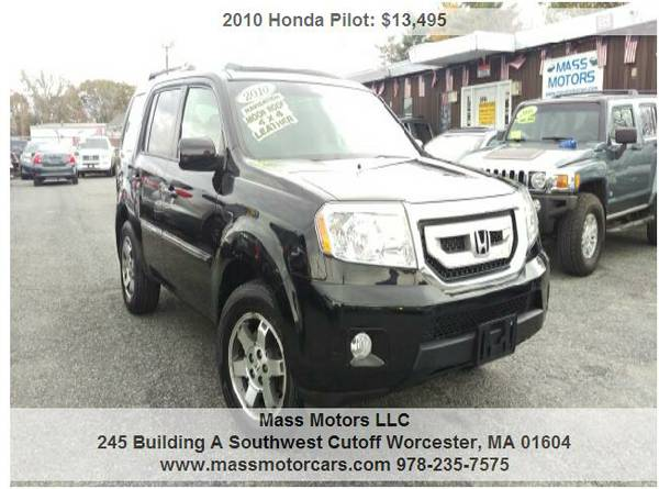 2010 Honda Pilot Touring 4dr SUV w/Navi Loaded