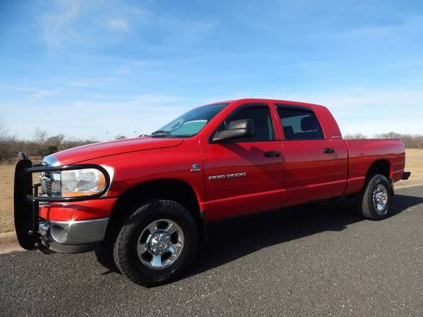 UNMOLESTED GRANDPA OWNED-2006 DODGE MEGA CAB 3500-4X4-5.9L-SUPER CLEAN