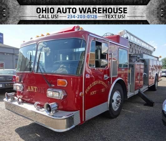 1986 SUTPHEN 4555 LADDER FIRE TRUCK Detroit Diesel