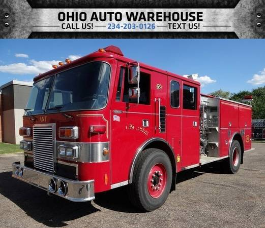1990 PIERCE MFG. INC. Lance FIRE TRUCK Detroit Diesel Pumper Truck