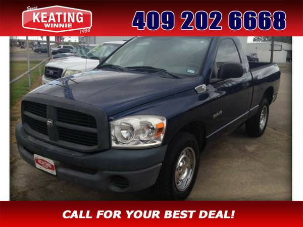 *2008* *Dodge Ram 1500* *SXT Long Bed 2WD* Blue
