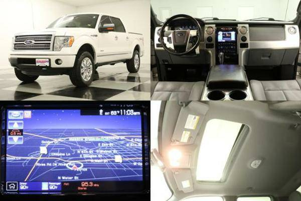 *LOADED White F-150 CREW 4X4 w SUNROOF*2011 Ford*GPS-COOLED LEATHER*