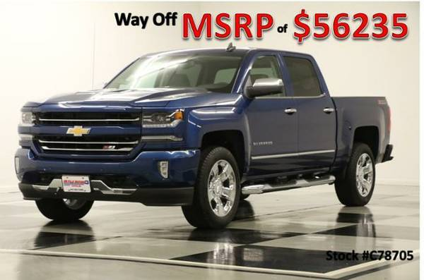 *SILVERADO 1500 CREW 4X4 w GPS* 2017 Chevy *LEATHER-SUNROOF*