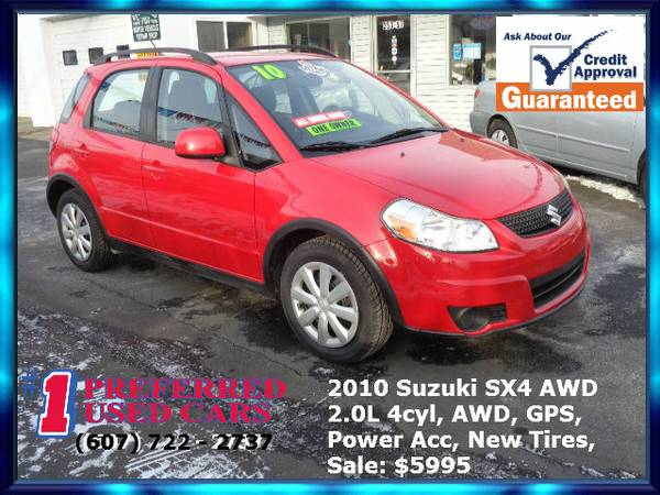 2010 Suzuki SX4 AWD!! Nav, New Tires!! Guaranteed Credit Approval!!
