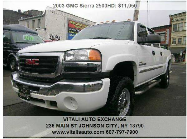 2003 GMC Sierra 2500HD Diesel 4x4 Crew Cab
