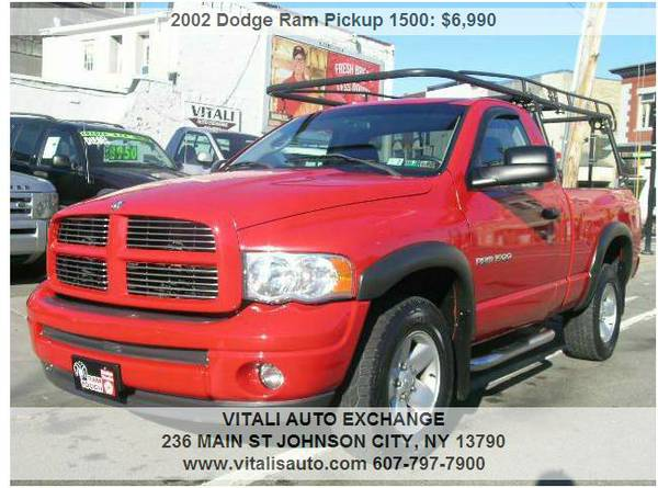 2002 Dodge Ram Pickup 1500 SLT 2dr Regular Cab 4WD SB