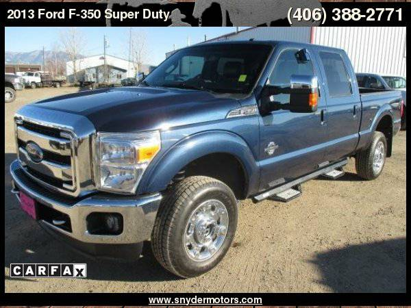 2013 Ford F-350 LARIAT,CARFAX 1 OWNER,6.7L,NEW TIRES! SUPER CLEAN