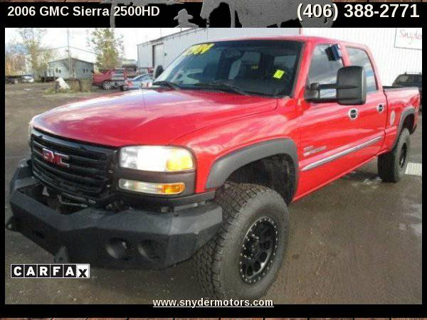 2006 GMC Sierra 2500HD,LBZ DURAMAX,1 OWNER,RIMS/TIRES,CLEAN