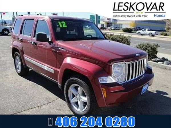 *2012* *Jeep Liberty* *Sport Utility Limited* *Red*