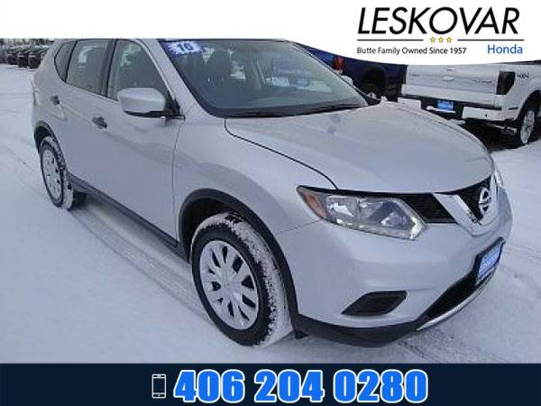 *2016* *Nissan Rogue* *Sport Utility S* *Silver*