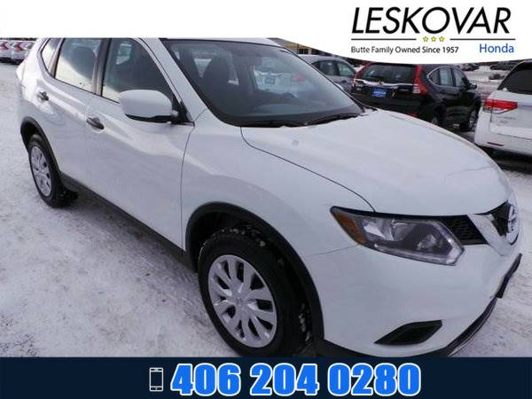 *2016* *Nissan Rogue* *Sport Utility S* *White*