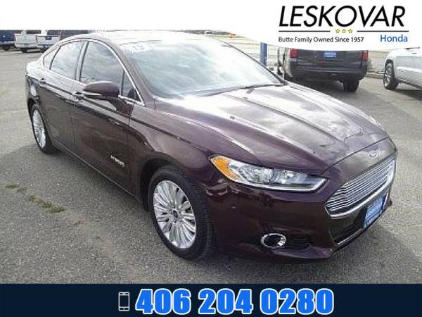 *2013* *Ford Fusion* *4dr Car SE Hybrid* *Red*