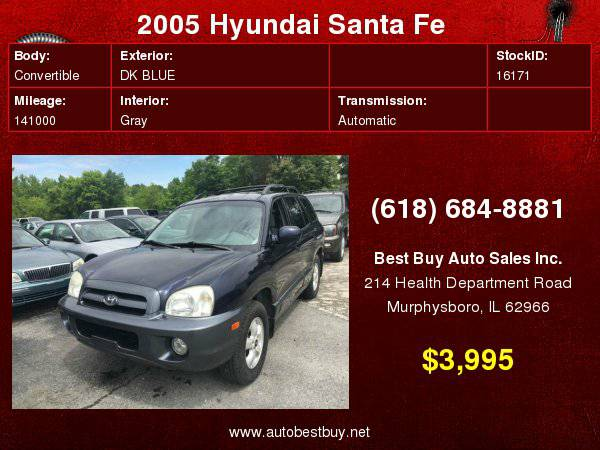 2005 Hyundai Santa Fe GLS 4dr SUV Call for Steve or Dean