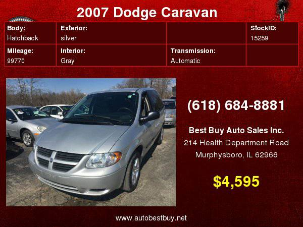 2007 Dodge Caravan SXT 4dr Mini Van Call for Steve or Dean