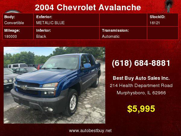 2004 Chevrolet Avalanche 1500 4dr Crew Cab SB RWD Call for Steve or De