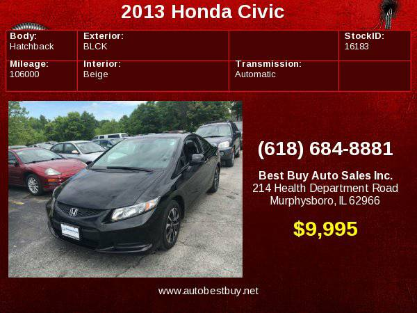 2013 Honda Civic EX w/Navi 2dr Coupe w/Navi Call for Steve or Dean