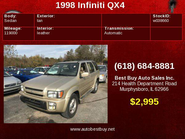 1998 Infiniti QX4 4dr 4WD SUV Call for Steve or Dean