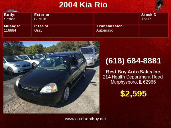 2004 Kia Rio Cinco 4dr Wagon Call for Steve or Dean