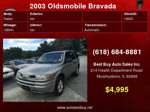 2003 Oldsmobile Bravada AWD 4dr SUV Call for Steve or Dean