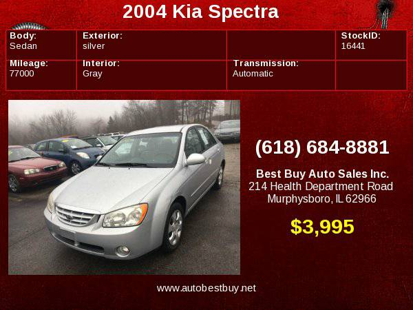 2004 Kia Spectra LX 4dr Sedan (2004.5) Call for Steve or Dean