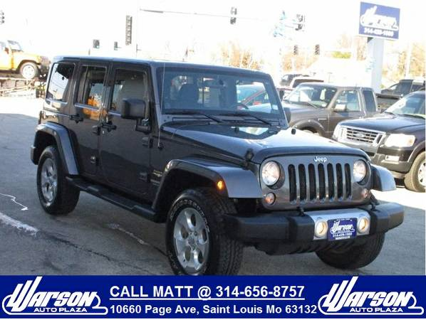 2014 Jeep Wrangler Unlimited 4X4 Sahara -NAV -GRANITE CRYSTAL-ON SALE!