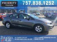 Certified 2015 Honda Civic LX Sedan in Hampton, VA