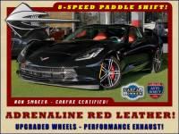 2016 Chevrolet Corvette LT ADRENALINE RED LEATHER - UPGRADED WHEELS!