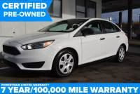 Certified Pre-Owned 2016 Ford Focus S FWD 4D Sedan