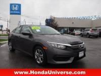 Pre-Owned 2016 Honda Civic 4dr CVT LX FWD LX 4dr Sedan CVT