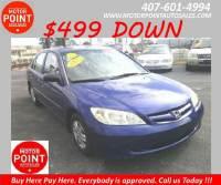 2005 Honda Civic Value Package 4dr Sedan