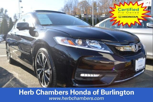 Certified Pre-Owned 2016 Honda Accord EX-L V-6 Coupe in Burlington, MA