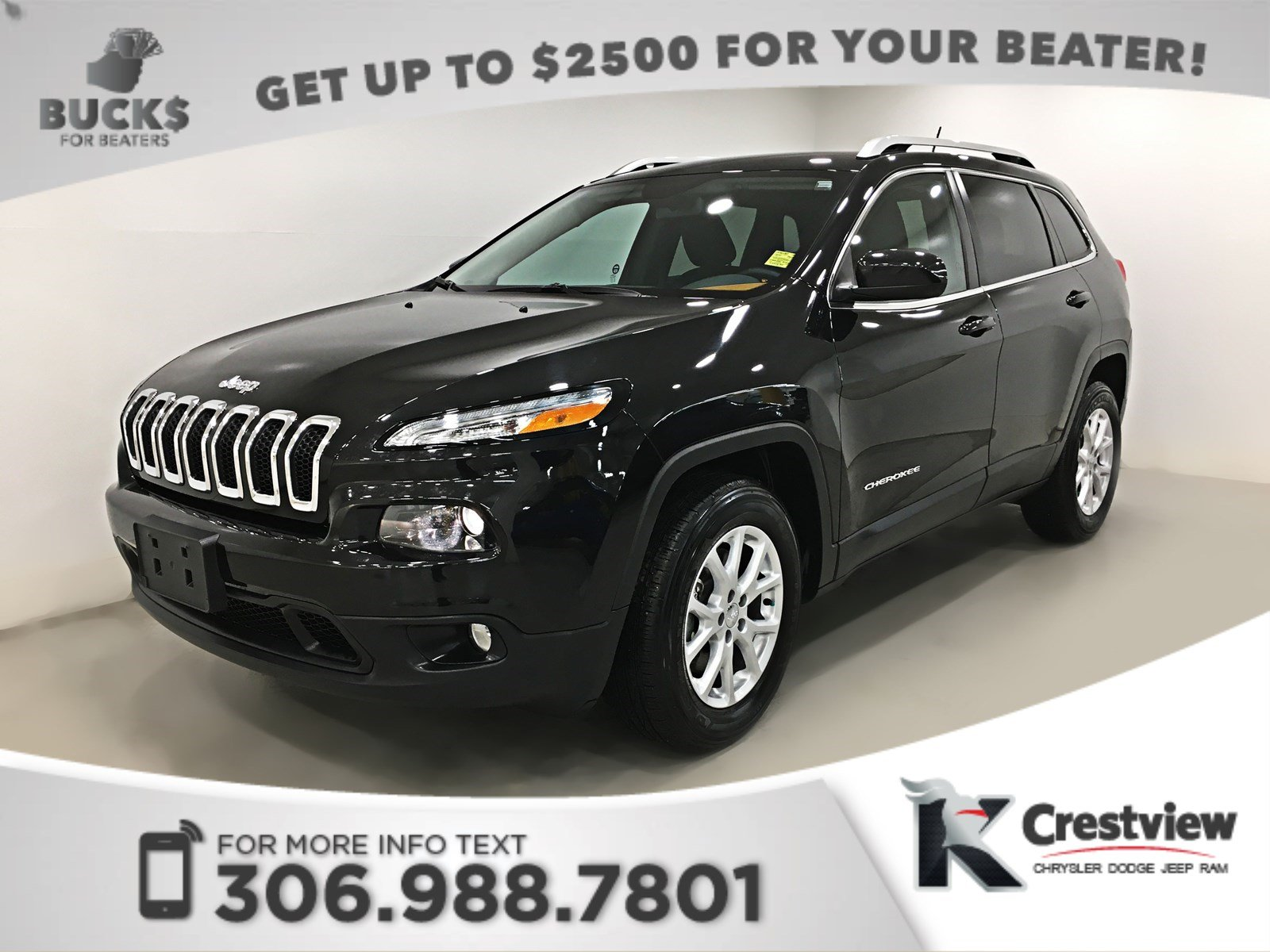 Pre-Owned 2015 Jeep Cherokee North 4x4 V6 | Heated Seats and Steering Wheel | Remote Start 4WD Sport Utility