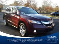 Certified 2014 Acura RDX AWD with Technology Package in Richmond VA