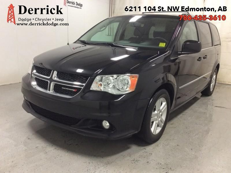 Pre-Owned 2015 Dodge Grand Caravan Used Crew Pwr Sliding Drs S'roof Sto N'Go $153 B/W