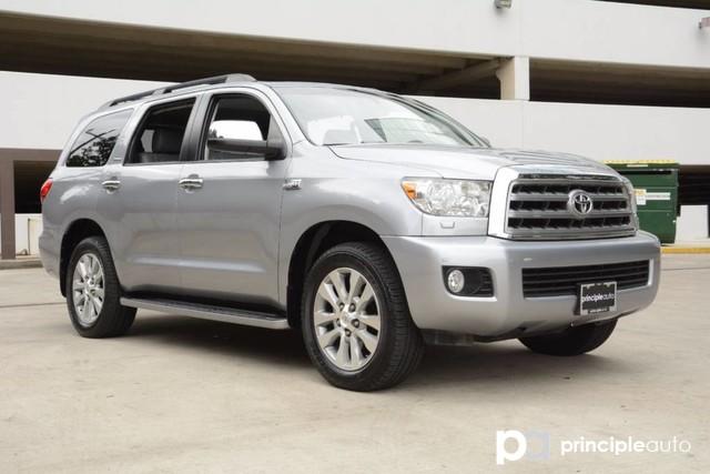 Photo Used 2013 Toyota Sequoia Limited, Leather Seats, Luggage Rack, Navigation, SUV For Sale San Antonio, TX