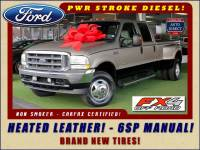 2004 Ford Super Duty F-350 DRW Lariat Crew Cab 4x4 FX4-HEATED LEATHER-6SP MANUAL