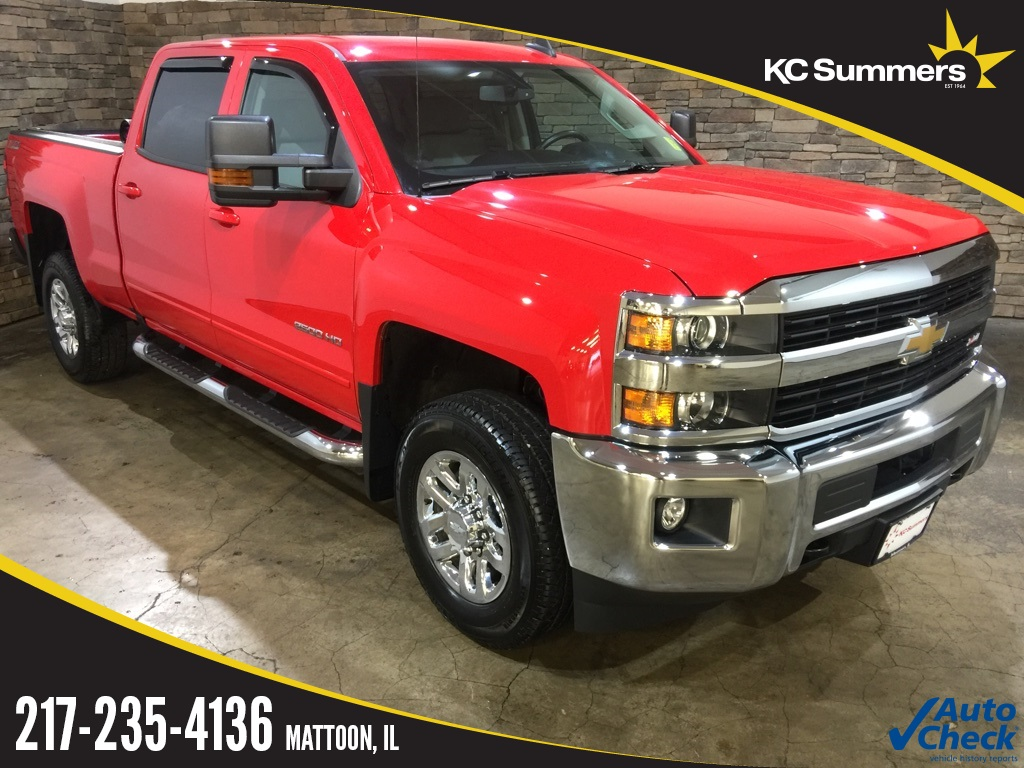 Photo Pre-Owned 2016 Chevrolet Silverado 2500HD LT Red Hot 4WD