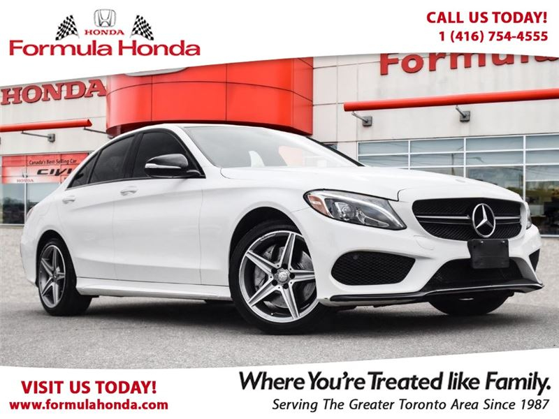 Photo Pre-Owned 2015 Mercedes-Benz C-Class C300 TOP OF LINE RED LEATHER NAVI AWD