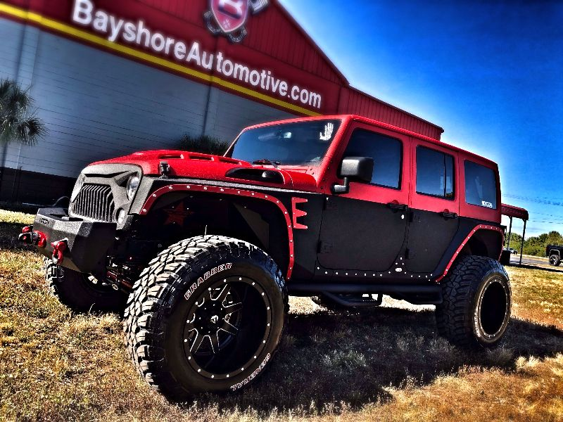 Photo Used 2017 Jeep Wrangler Unlimited RUBICON RHINO TWO-TONE LEATHER HADTOP